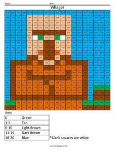 Minecraft Mobs Addition and Subtraction