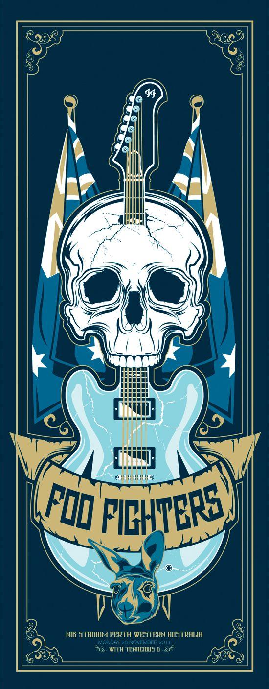 ☮~ღ~*~*✿⊱╮Hippie Style, Free Spirit, Boho, - レ o √ 乇 !! ✿⊱╮❥☮ Foo Fighters music poster