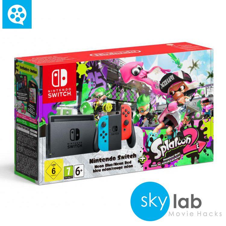 Pack De Edición Especial De Nintendo Switch Con Splatoon 2 Juegos De Consolas Nintendo Splatoon
