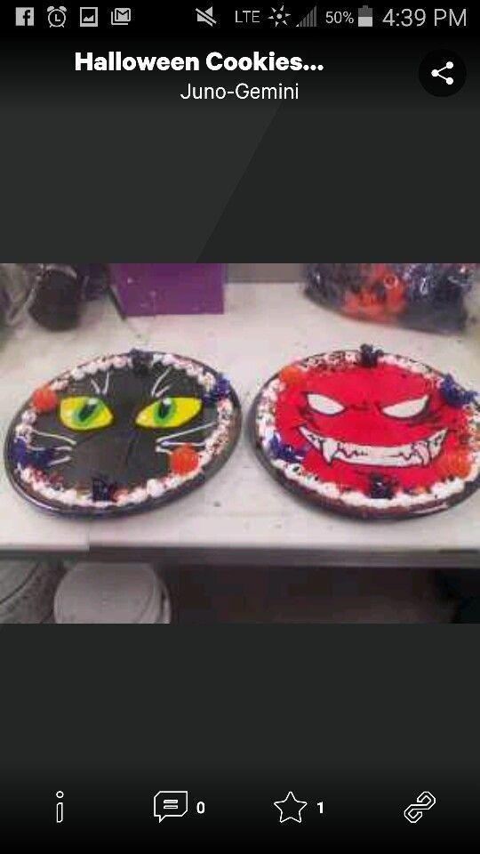Halloween Message Cookies Cookie Cake Designs Halloween Cake
