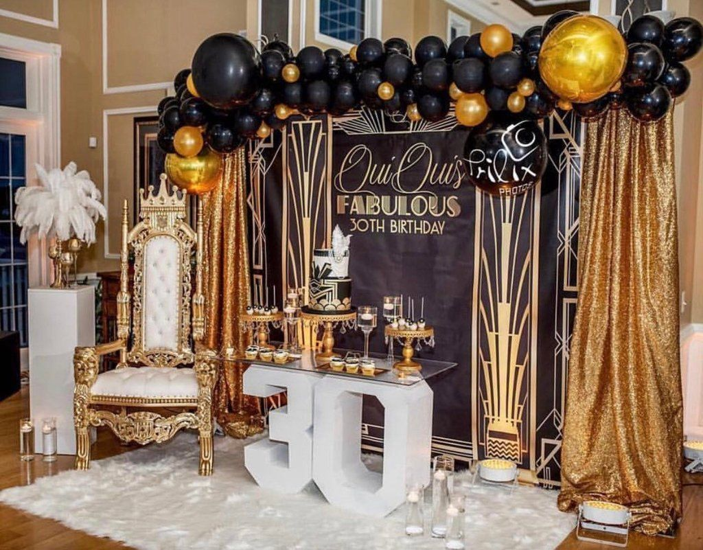Gatsby Themed 8x8 Backdrop Step Repeat Design Print And Ship