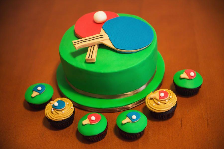 Ping Pong Cake Ping Pong Cupcakes Cake By Yuri Tortendeko Kuchen Tischtennis