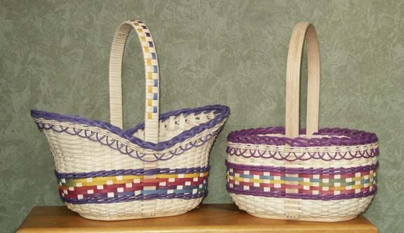 Pretty purple and white baskets! #YCEasterBasket