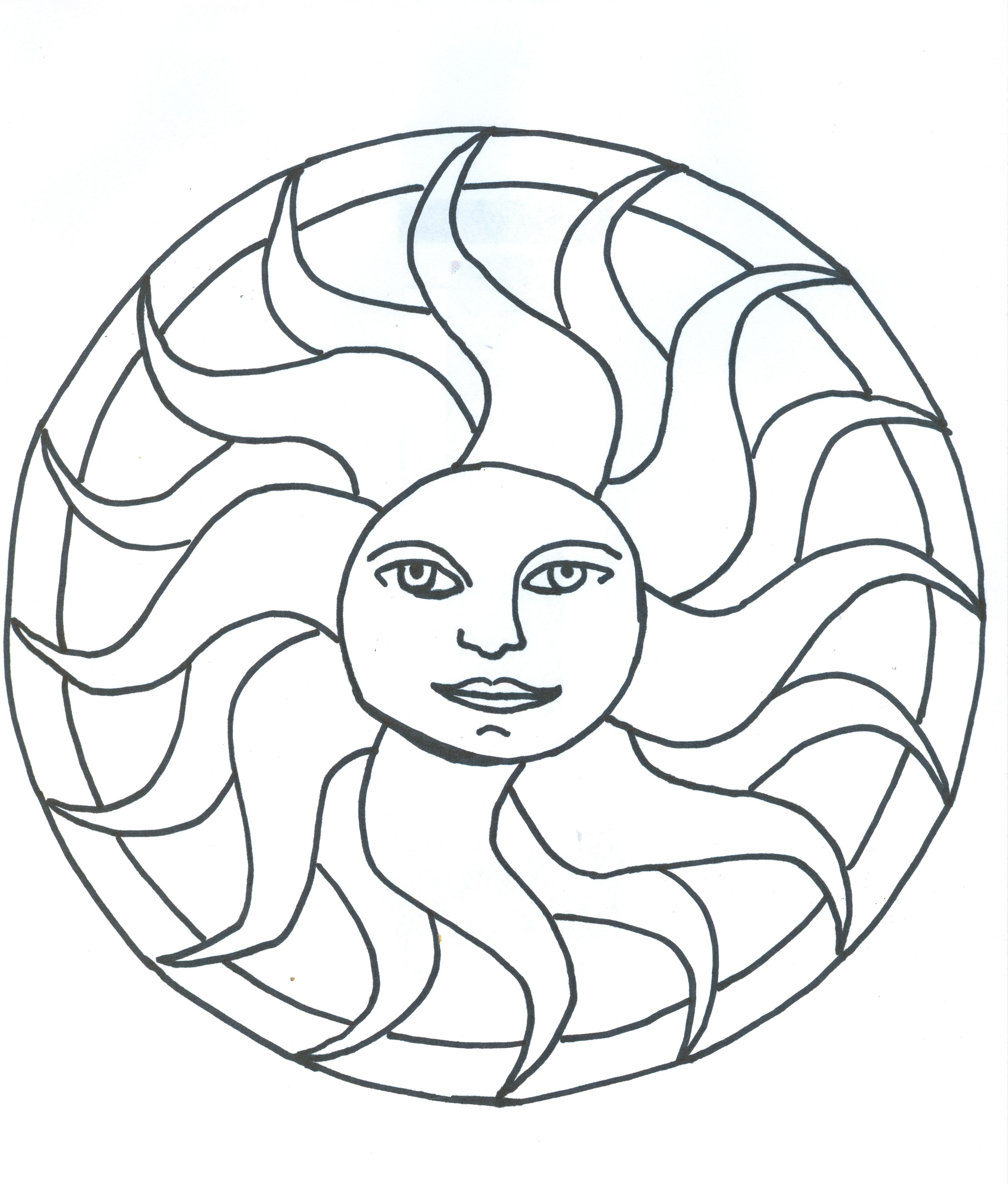 Litha Sun Summer Solstice (With images)   Mandala coloring ...
