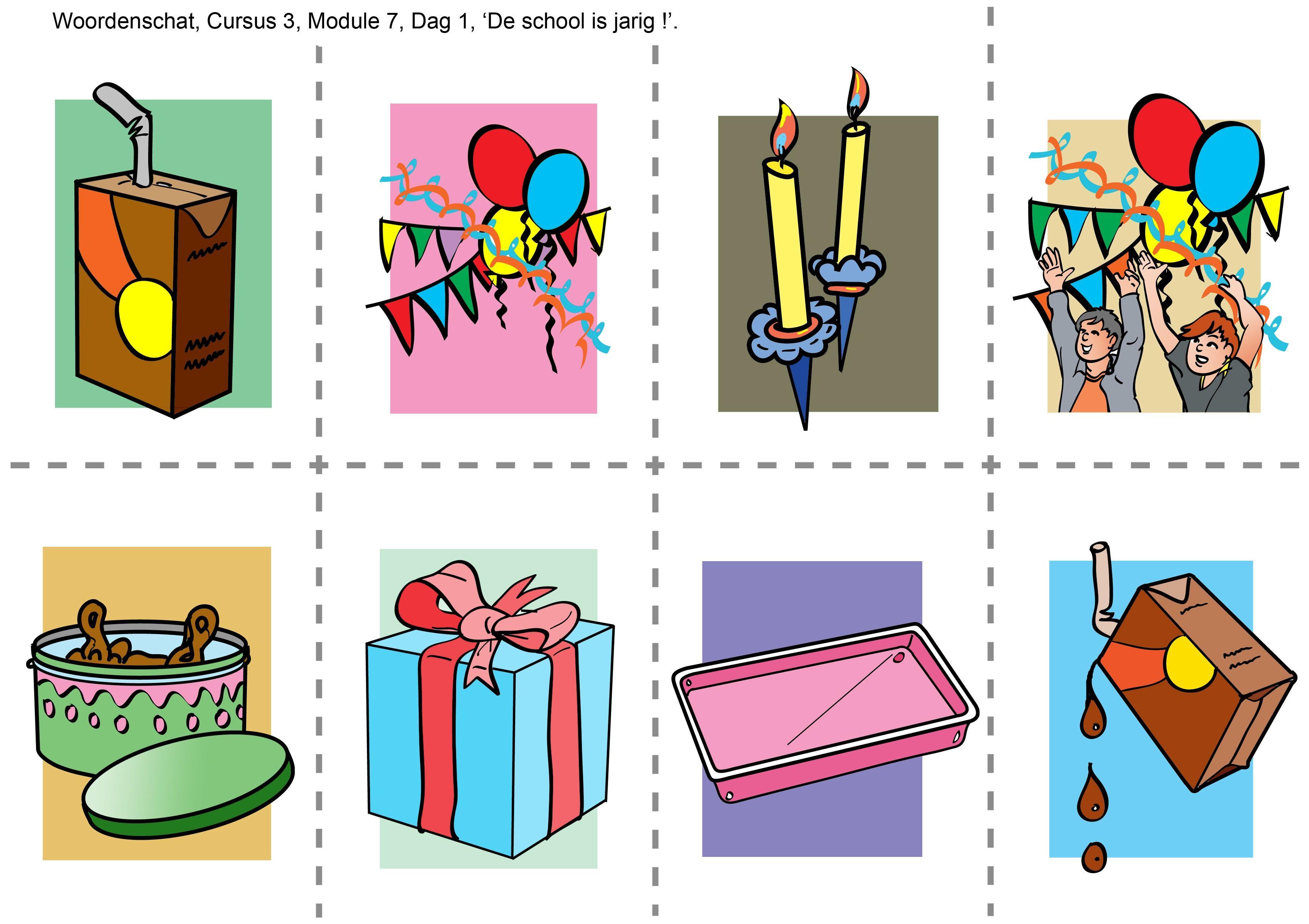 het pakje , de versiering, de kaarsjes, het kinderfeest, de koektrommel, het cadeautje of het pakje, de schaal, knoeien.