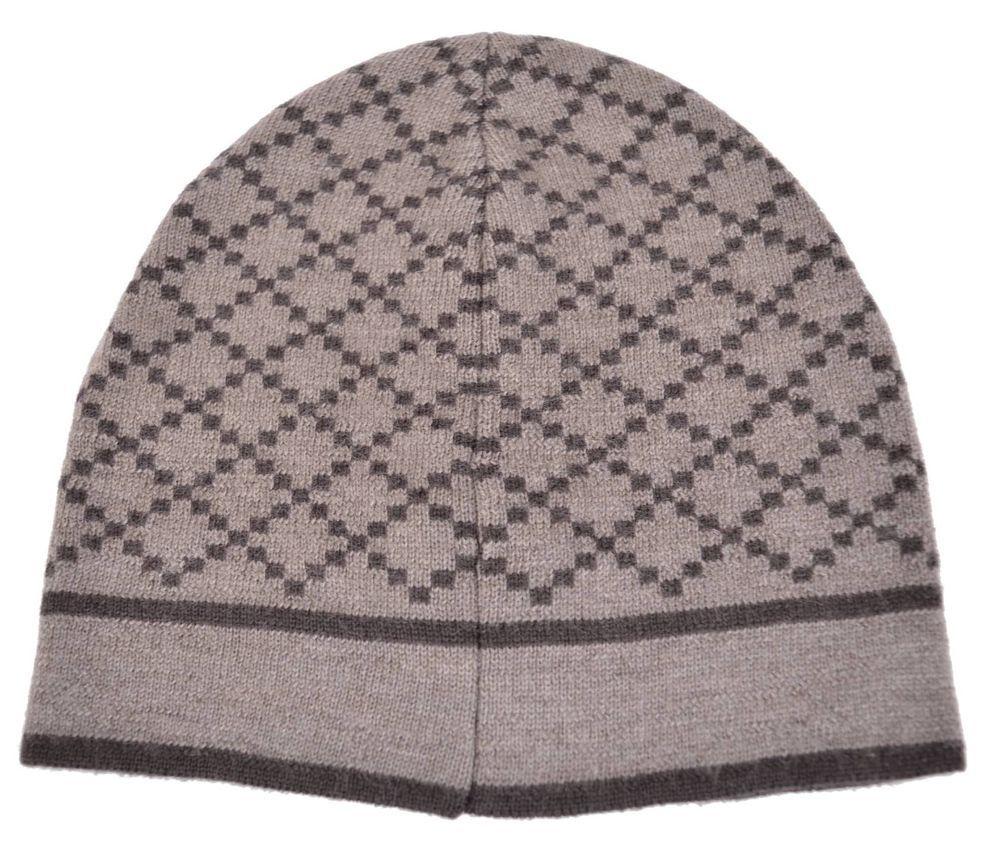 75021b72d54f4b New Gucci 281600 Men's 100% Wool Diamante Taupe Brown Beanie Ski Winter Hat  #Gucci #Beanie