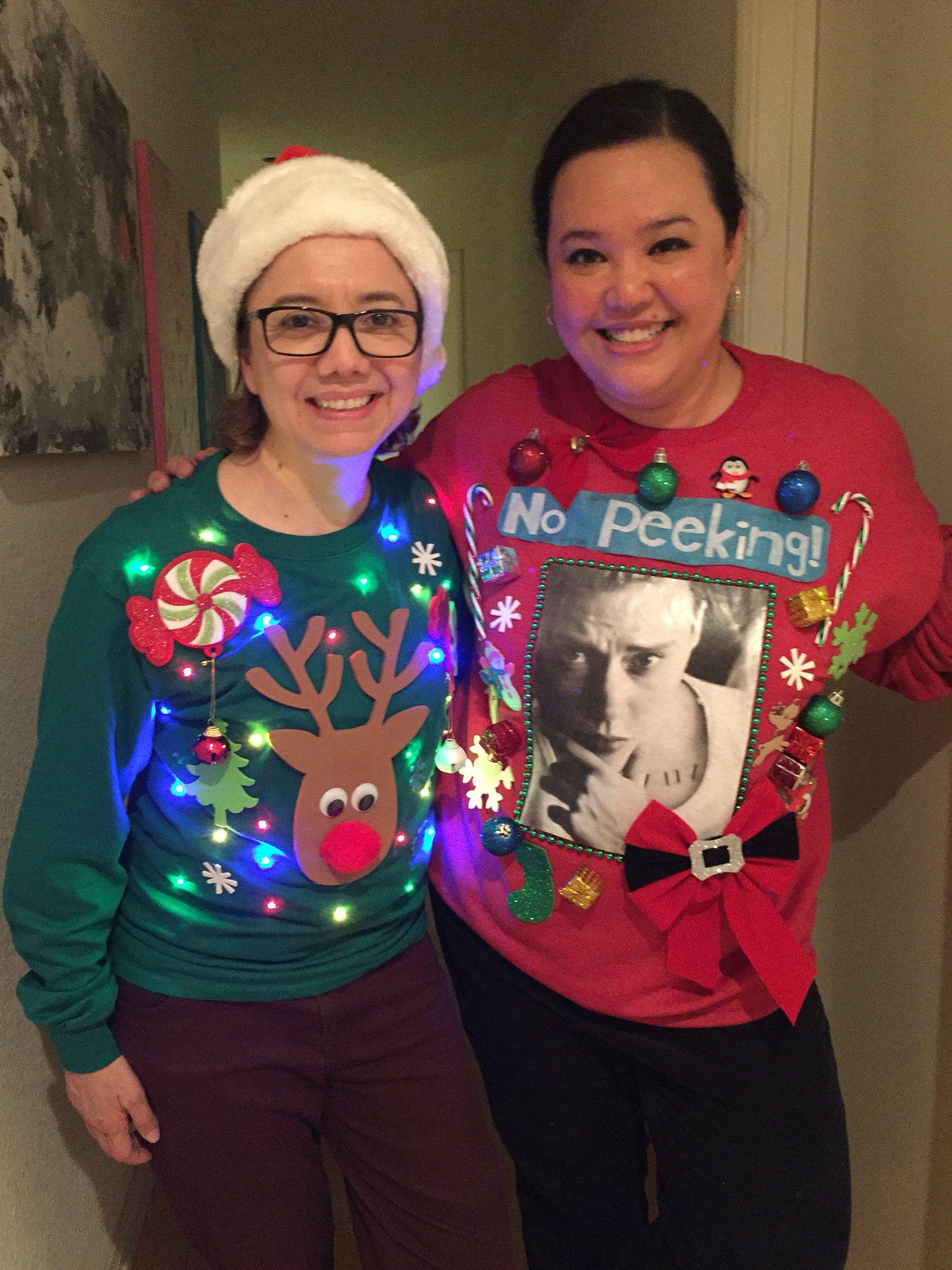 Kate McKinnon as Justin Bieber homemade ugly Christmas sweater ...