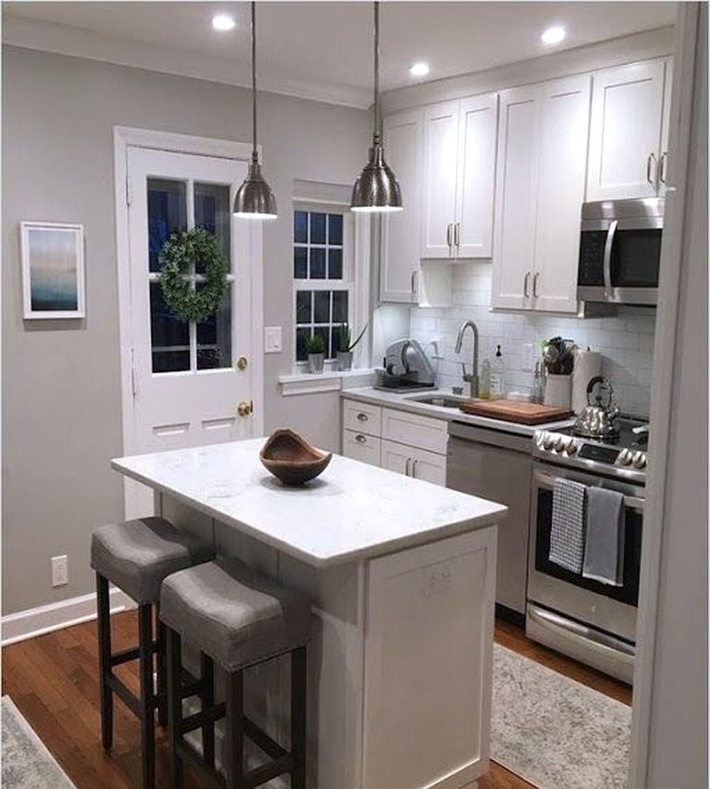 27 Cheap Small Kitchen Island Design Ideas 07 Best Home Design Ideas In 2021 Kitchen Remodel Small Small Kitchen Layouts Kitchen Design Small