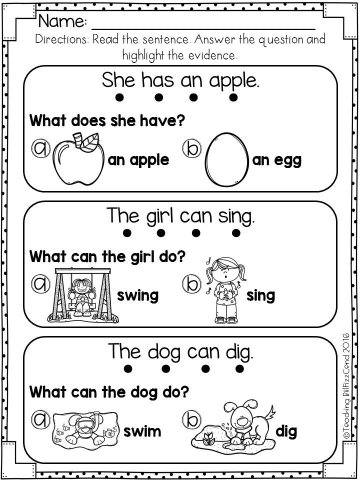 This Comprehension Pack Is Perfect For Early Readers Special Education Ells In Kind Reading Comprehension Worksheets Reading Comprehension Reading Worksheets