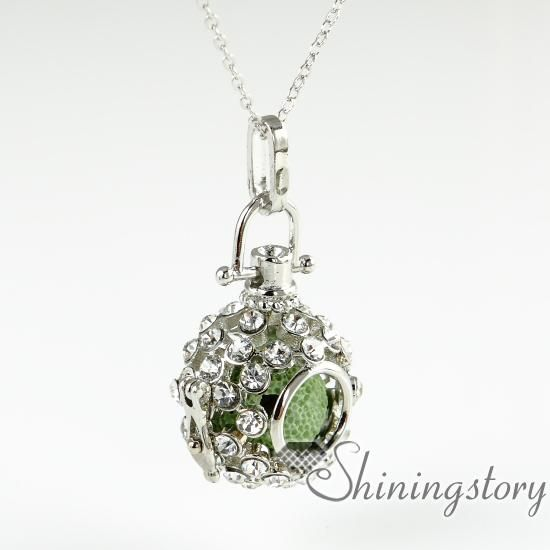 Openwork rhinestone volcanic stone aromatherapy necklace wholesale online cheap openwork rhinestone volcanic stone aromatherapy necklace wholesale essential oil jewelry necklace diffuser pendant oil aloadofball Gallery