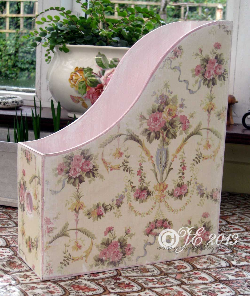 wooden up-cycled magazine box. Perfect for my crafting magazines! Shabby  Chic ...