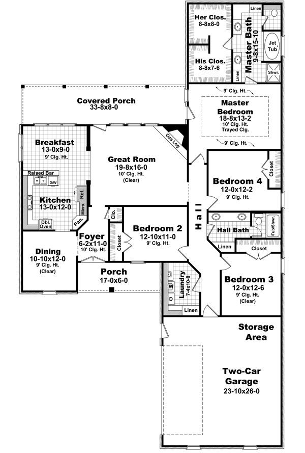 The Millbrook 8560 4 Bedrooms And 2 5 Baths The House Designers Country Style House Plans Monster House Plans How To Plan