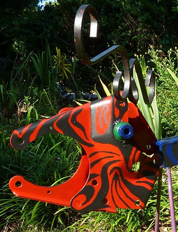 Charmant Backyard Metal Decor | Metal Art Garden Yard Decor Moosealope Original  Painted Steel Animal