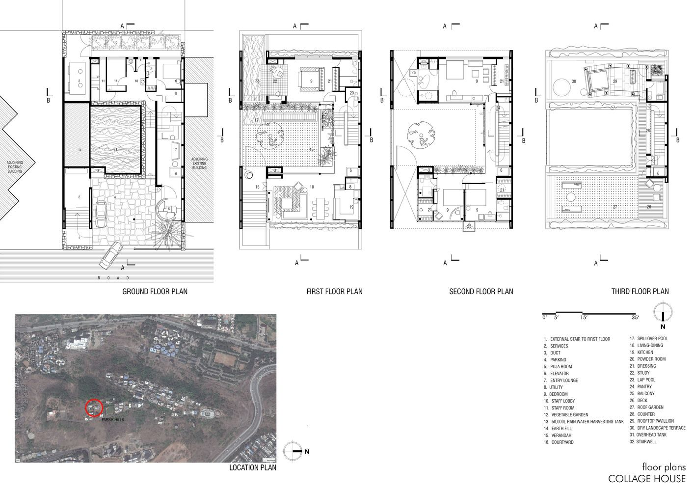 Gallery Of Collage House S Ps Architects 38 Location Plan Ground Floor Plan How To Plan
