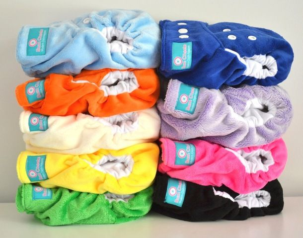 Baby Half Off Bum Cheeks Solid Minky Cloth Diapers
