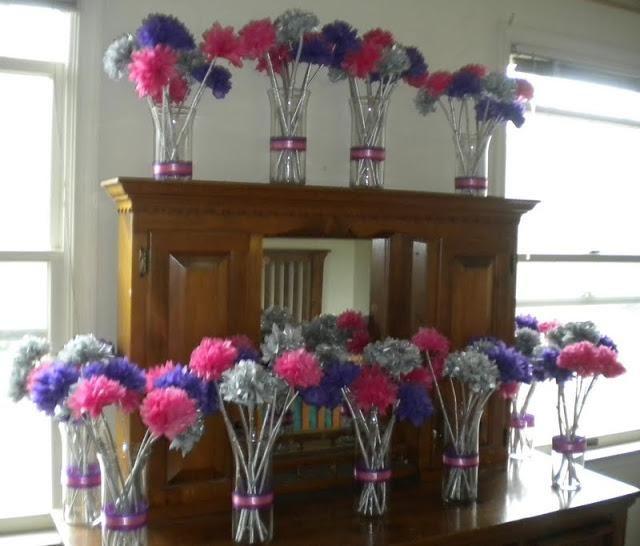 My diy tissue paper flower wedding centerpieces