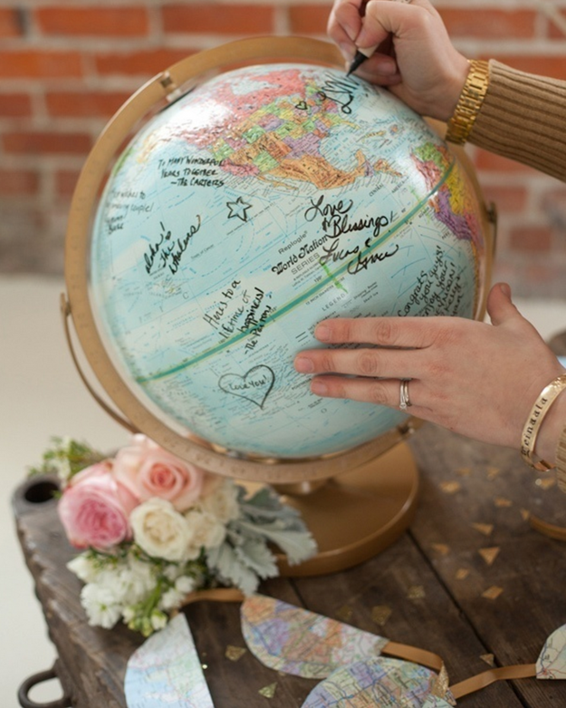 Have your guests sign a globe.