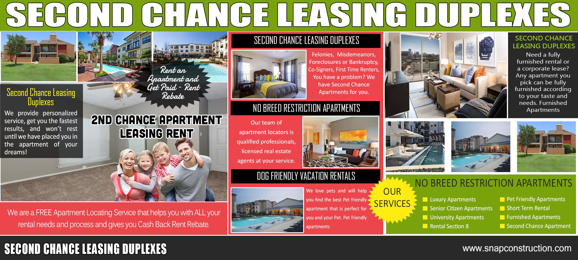 Second Chance Leasing Duplexes Dog friendly vacation