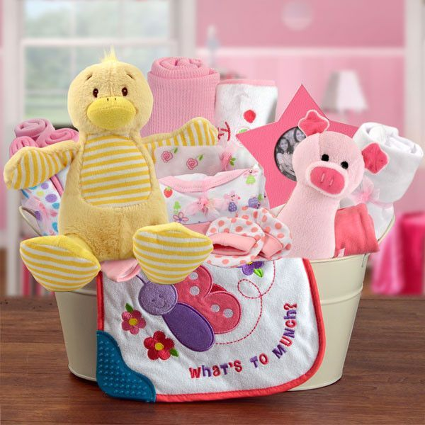 Welcome Home Baby Girl Large Gift Basket Baby Shower Ideas