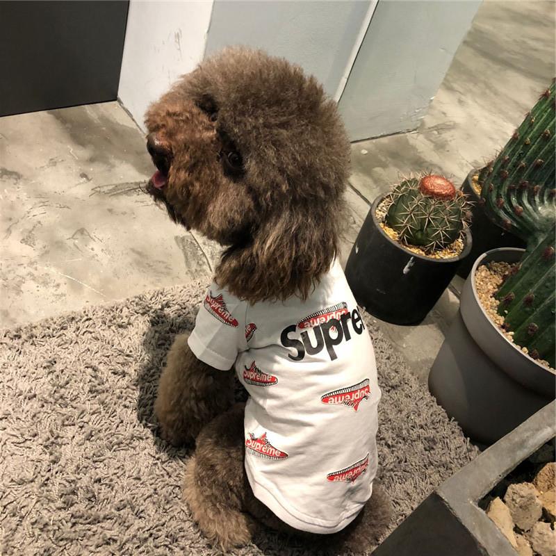シュプリームパロディ猫服 Supreme Dog 犬 服 激安 着心地よい 小型犬 ブランド風 ドッグウェア 薄型 シュプリーム ペット用品 通販 犬 猫 服 ペット用品