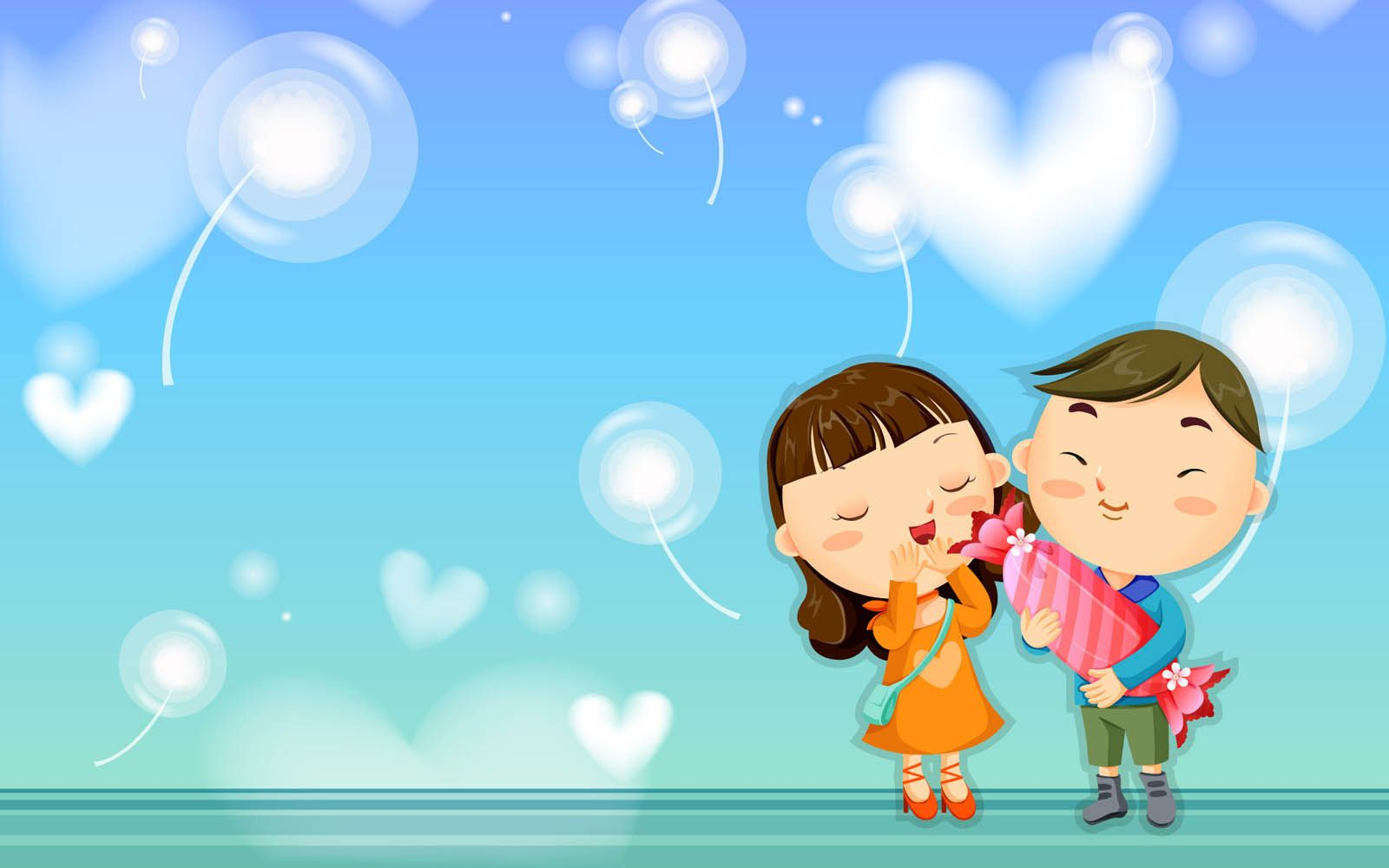 62 Wallpapers Animasi Romantis Gratis
