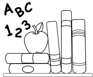 Book Worm Coloring Pages School Clipart Image Coloring Page Of Schoolbooks An Apple For Clip Art Coloring Pages Coloring Book Pages