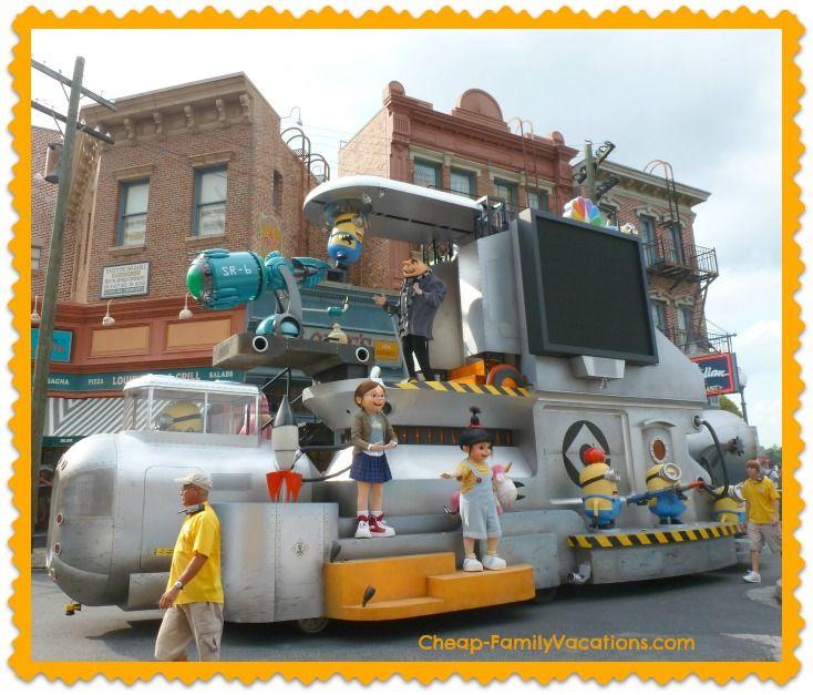 Cheap Holidays In Orlando International Drive: Universal Studios Despicable Me Minion Parade
