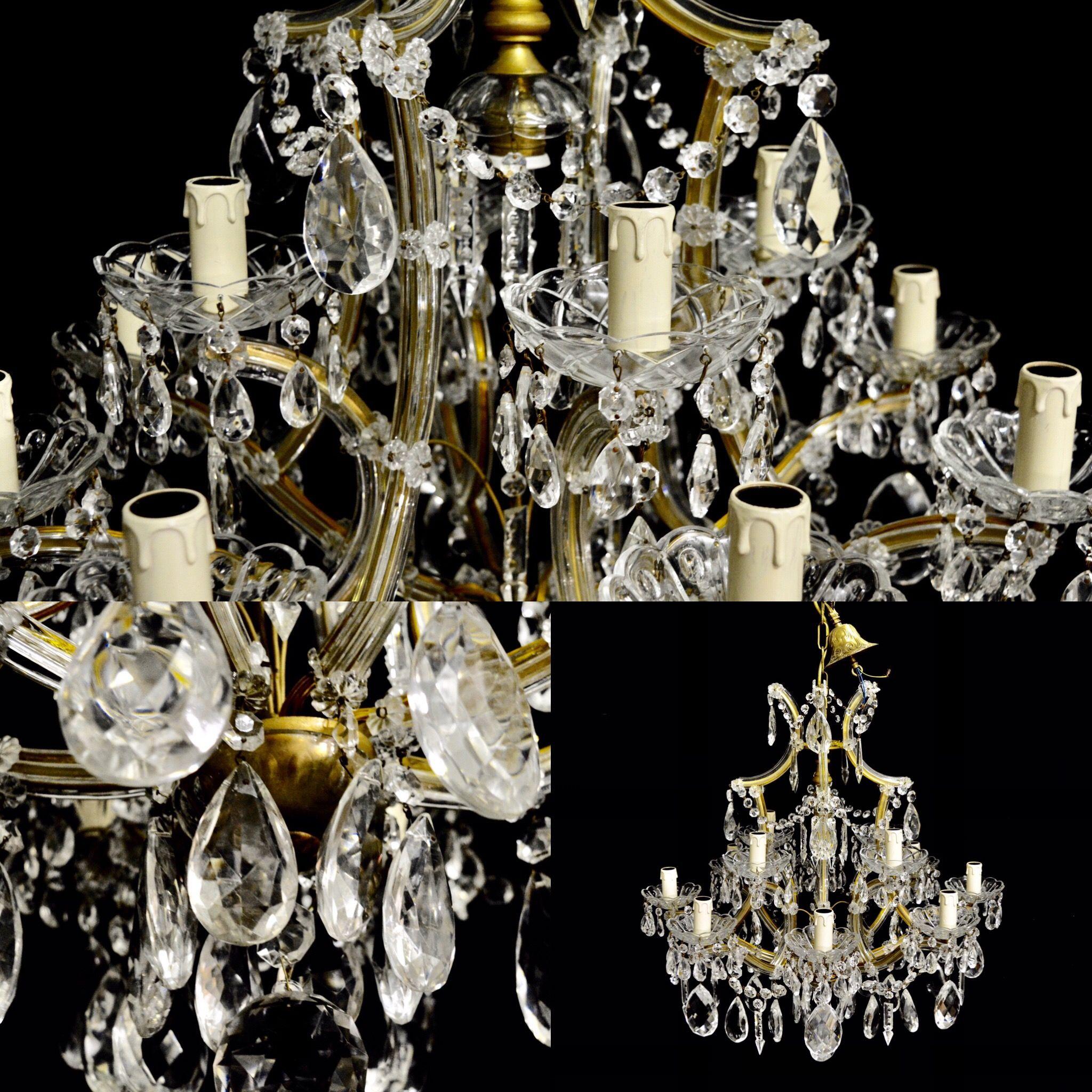 antique chandeliers for brass gas twelve continental product sale appleton light chandelier vintage