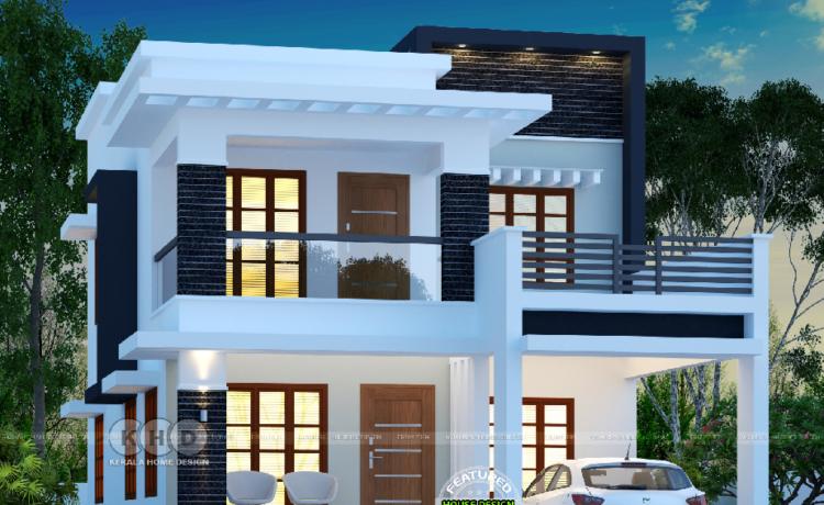 25 Lakhs Cost Estimated Double Storied Home Amazing Architecture Magazine 2 Storey House Design Kerala House Design Duplex House Design
