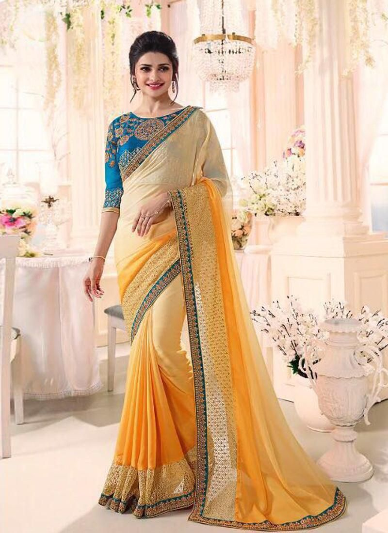 Designer Bollywood Heavy Silk Saree Blouse Traditional Wedding Ethnic sari KY