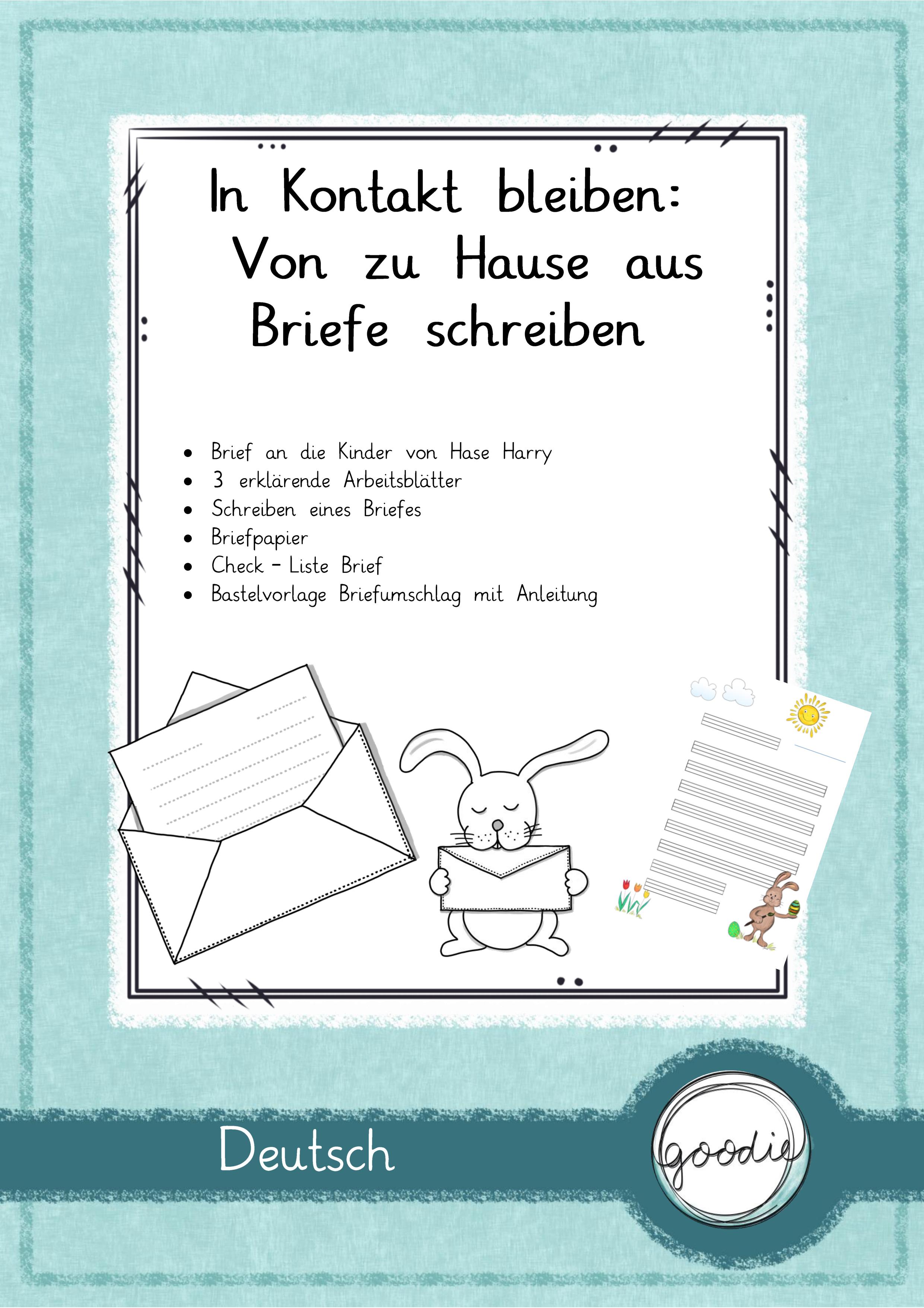 In Kontakt Bleiben Zu Hause Briefe Schreiben Unterrichtsmaterial In Den Fachern Deutsch Englisch Fachubergreifendes Briefe Schreiben Brief Schreiben Grundschule Briefe