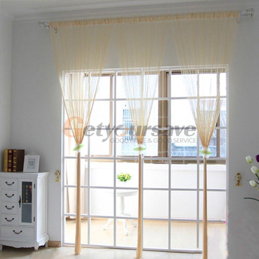 Line string window curtain tassel door fringe panel room divider