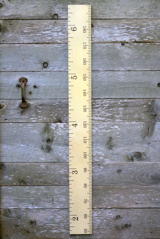 Modern Schoolhouse Wooden Ruler Growth Chart Kids Wood Growth