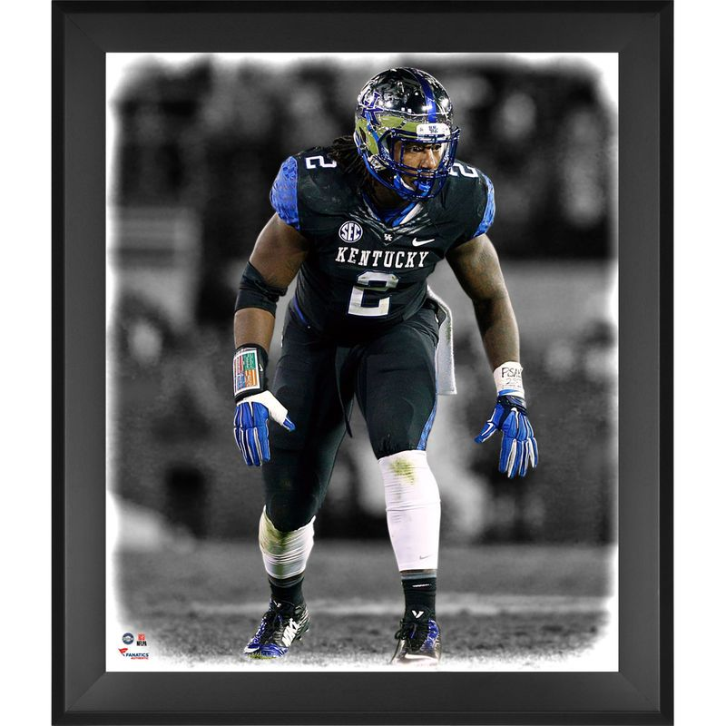 separation shoes 369fb 4f2cf Bud Dupree Kentucky Wildcats Fanatics Authentic Framed 20 ...