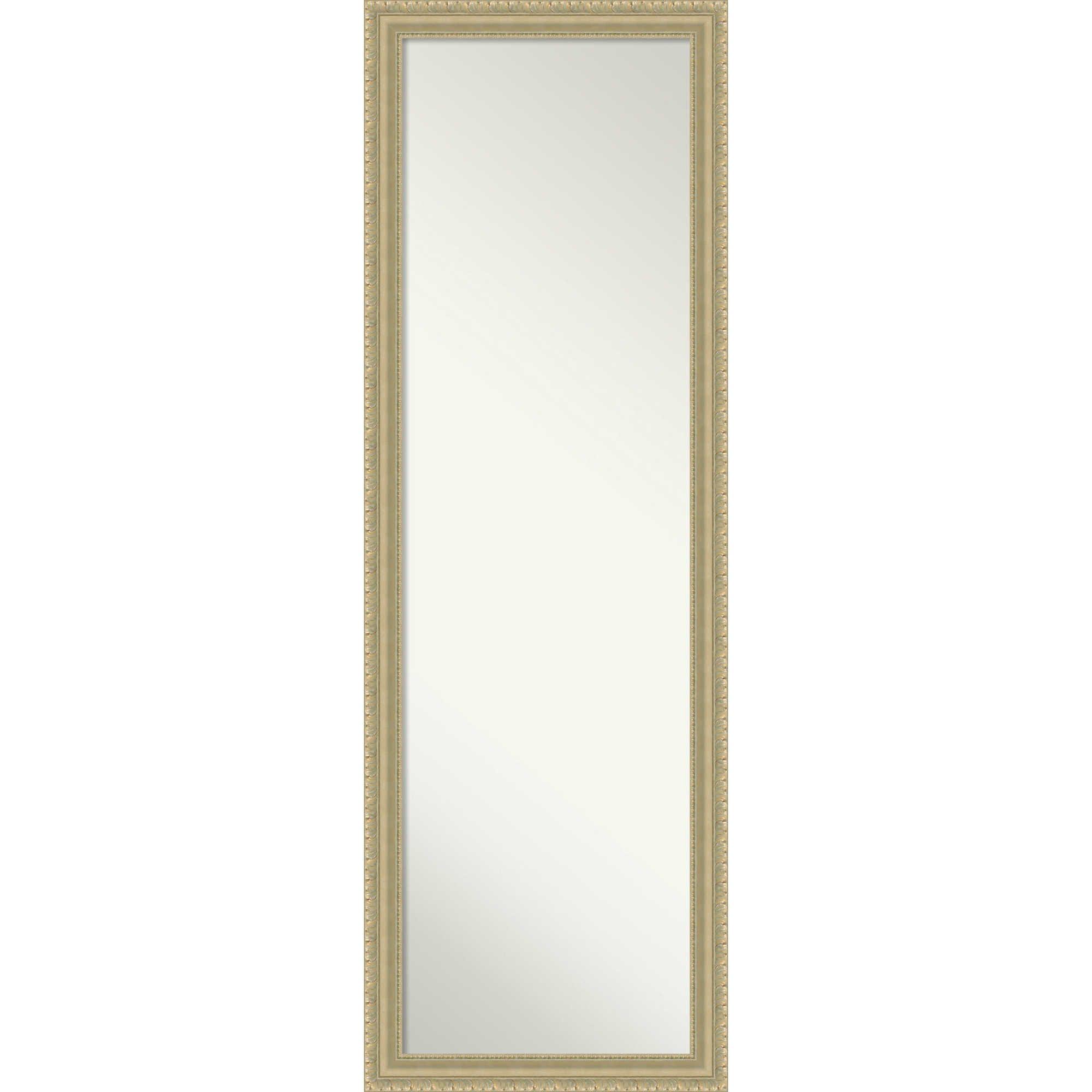 Amanti Art On The Door Wall 17 Inch X 51 Inch Teardrop Mirror In