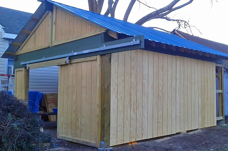 Chicken coop construction for the spinner girls home