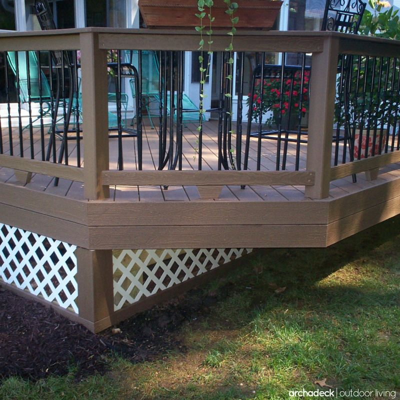 If Your Deck Is Raised Off The Ground A Little Or A Lot Lattice