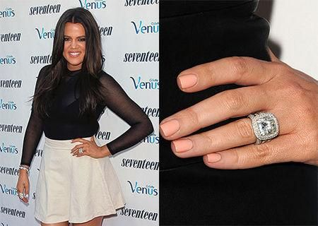 khloe kardashian engagement ring 26 - Khloe Kardashian Wedding Ring