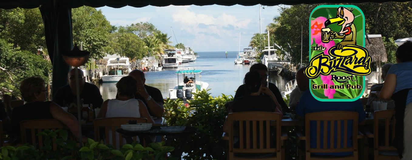 The Buzzards Roost Waterfront Seafood Restaurant And Garden Cove Marina Key Largo Florida