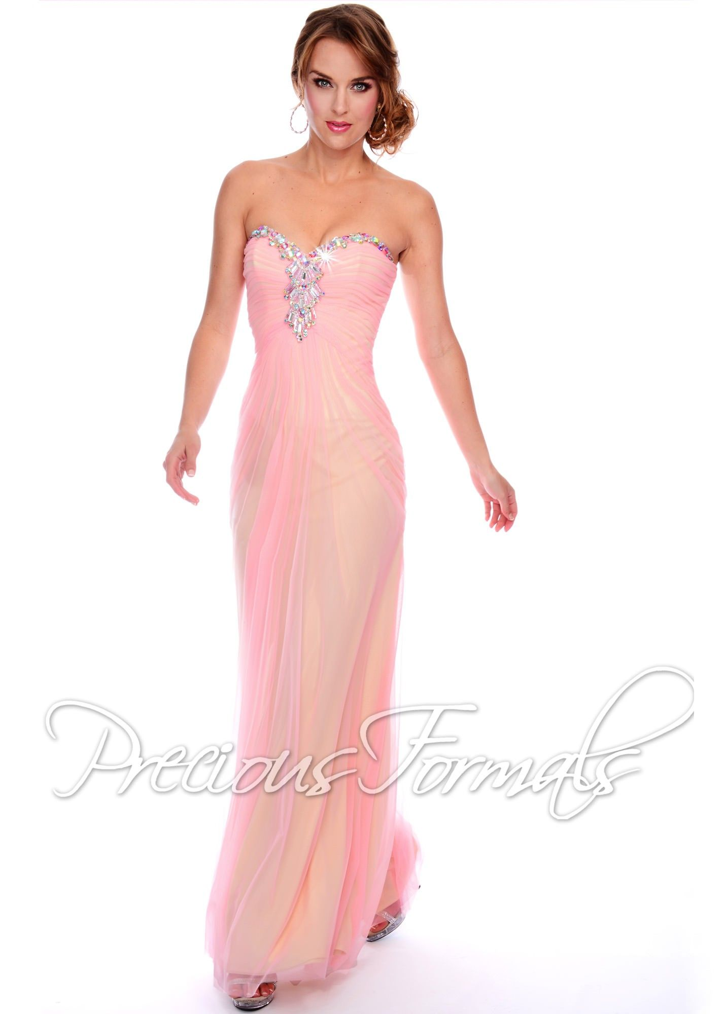 Precious Formals P21011 Strapless Illusion Dress SALE ...