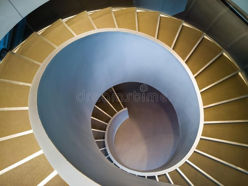 Spiral stairs stock photo. Image of downward, angle, design – 40347808