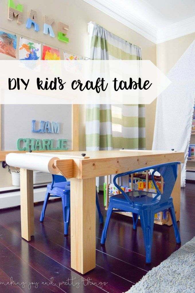 Diy Kid S Craft Table Kids Craft Tables Diy Kids Furniture