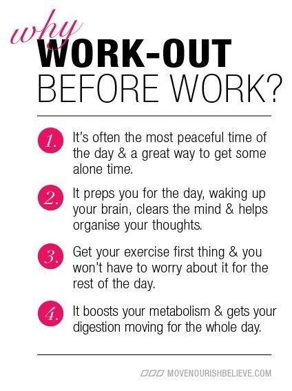 Haga ejercicio antes del trabajo! #salud laboral