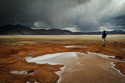 Un lugar que parece de otro planeta, aquí en el Salar de Aguas Calientes, cerca de la frontera con Argentina en la región de Atacama (Chile).