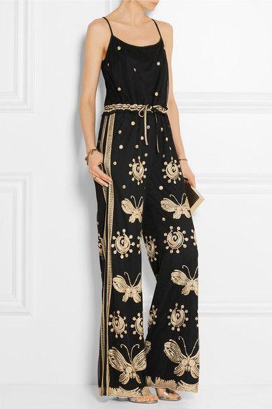 Diane von Furstenberg - Taliya embroidered tulle jumpsuit