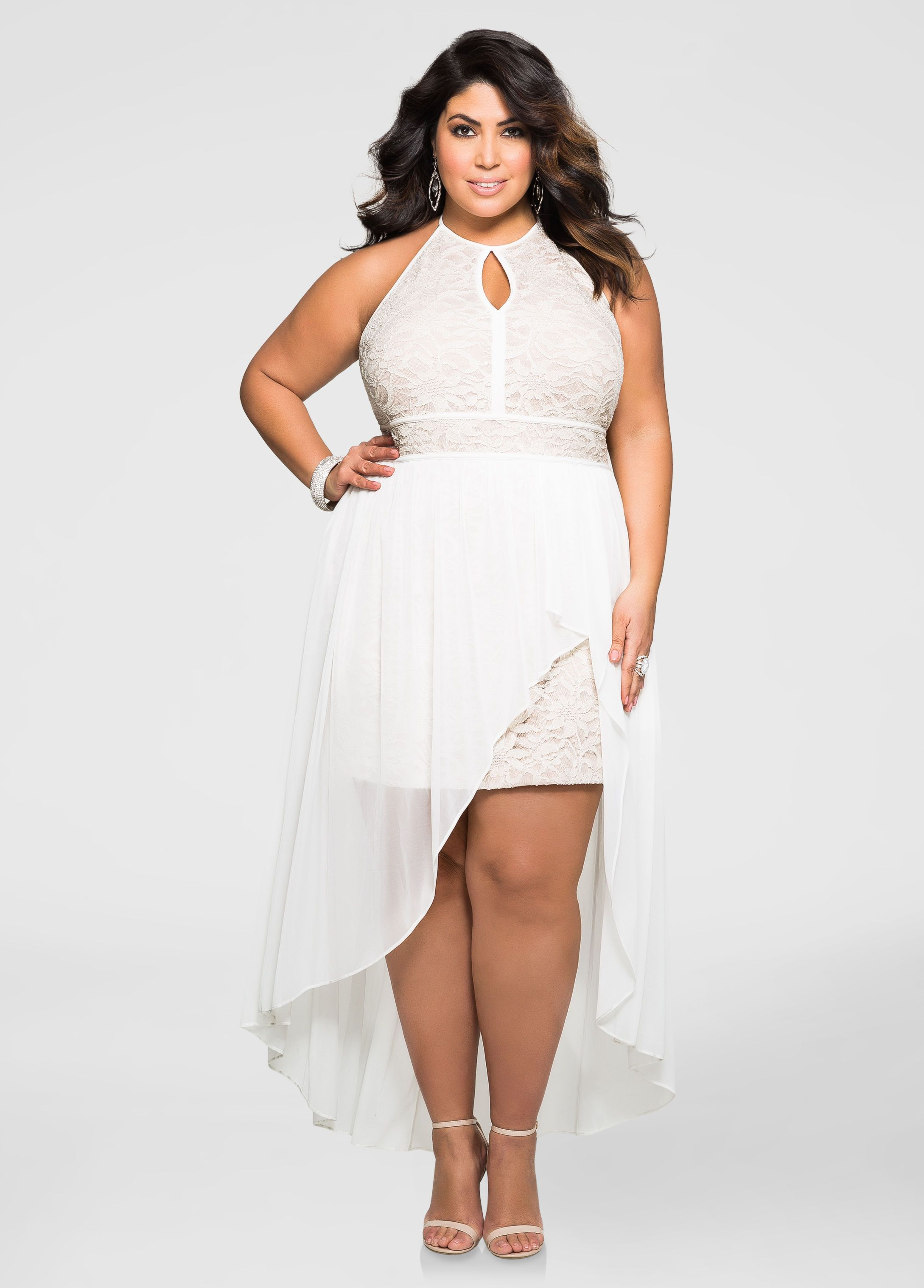 7d445e91d75 Metallic Lace Special Occasion Dress - Ashley Stewart