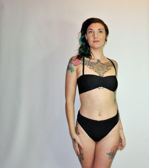 c54053607b Custom French Cut Scrunch High Waist 80's Bikini Swimsuit Bottoms ...