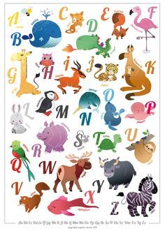 Animals In Spanish Letters Alphabet Google Search Alphabet Pictures Alphabet Illustration Alphabet Poster