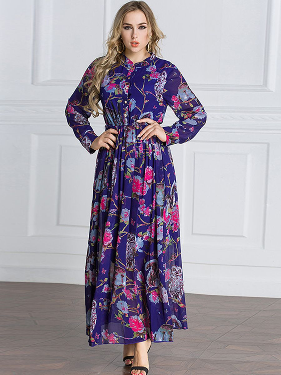 2019 year lifestyle- Maxi ladies dresses trends
