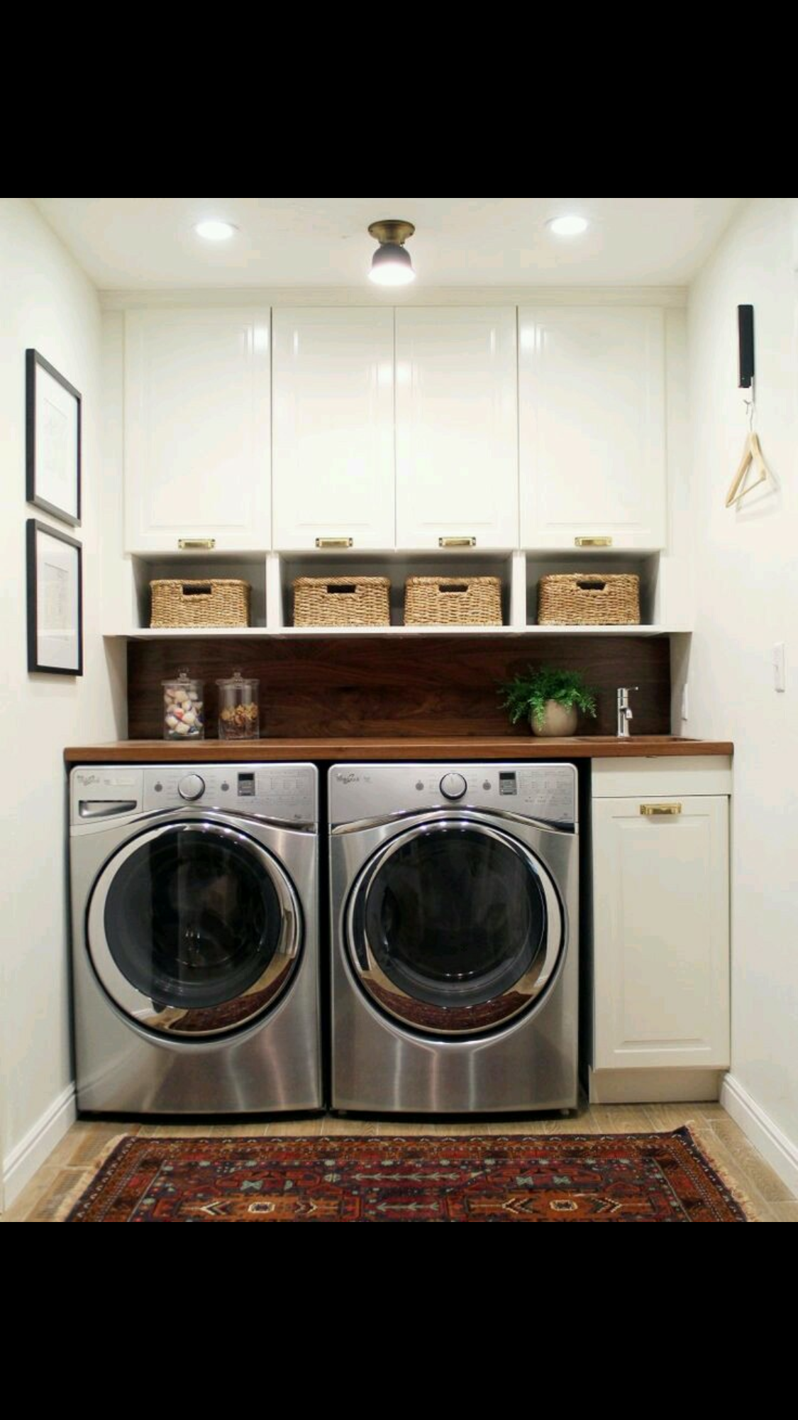 Functional pact laundry room via Chris Loves Julia